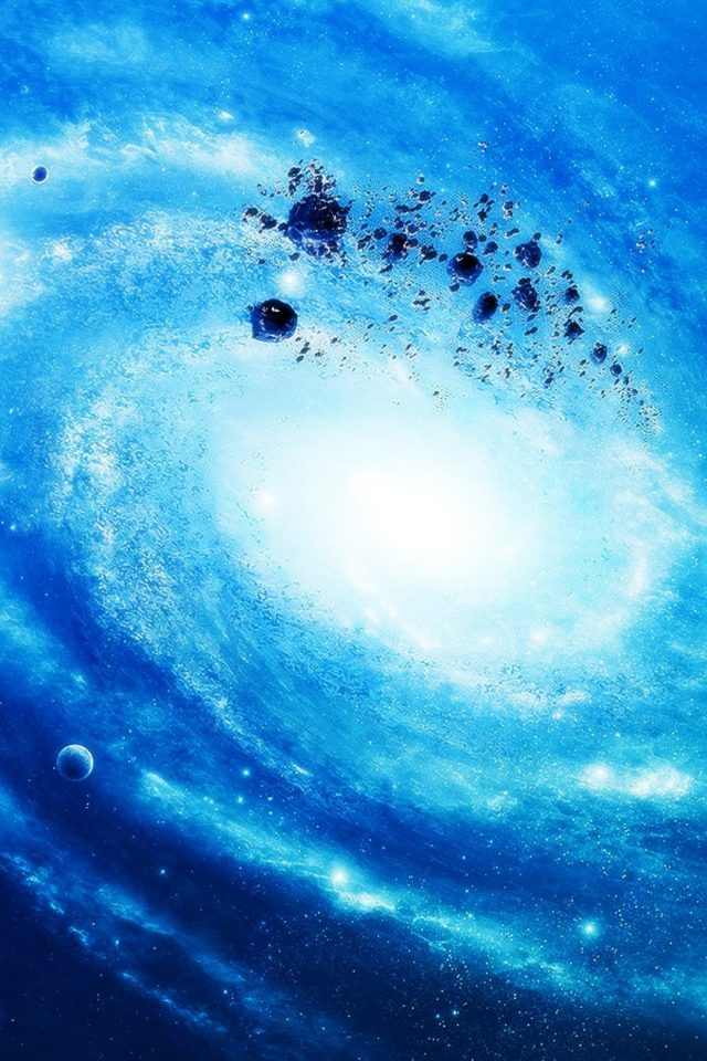 Silver Space Galaxy Android wallpaper