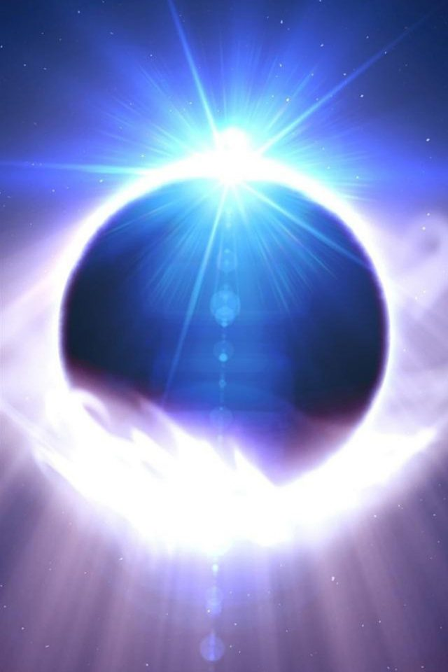 Space Solar Eclipse Android wallpaper