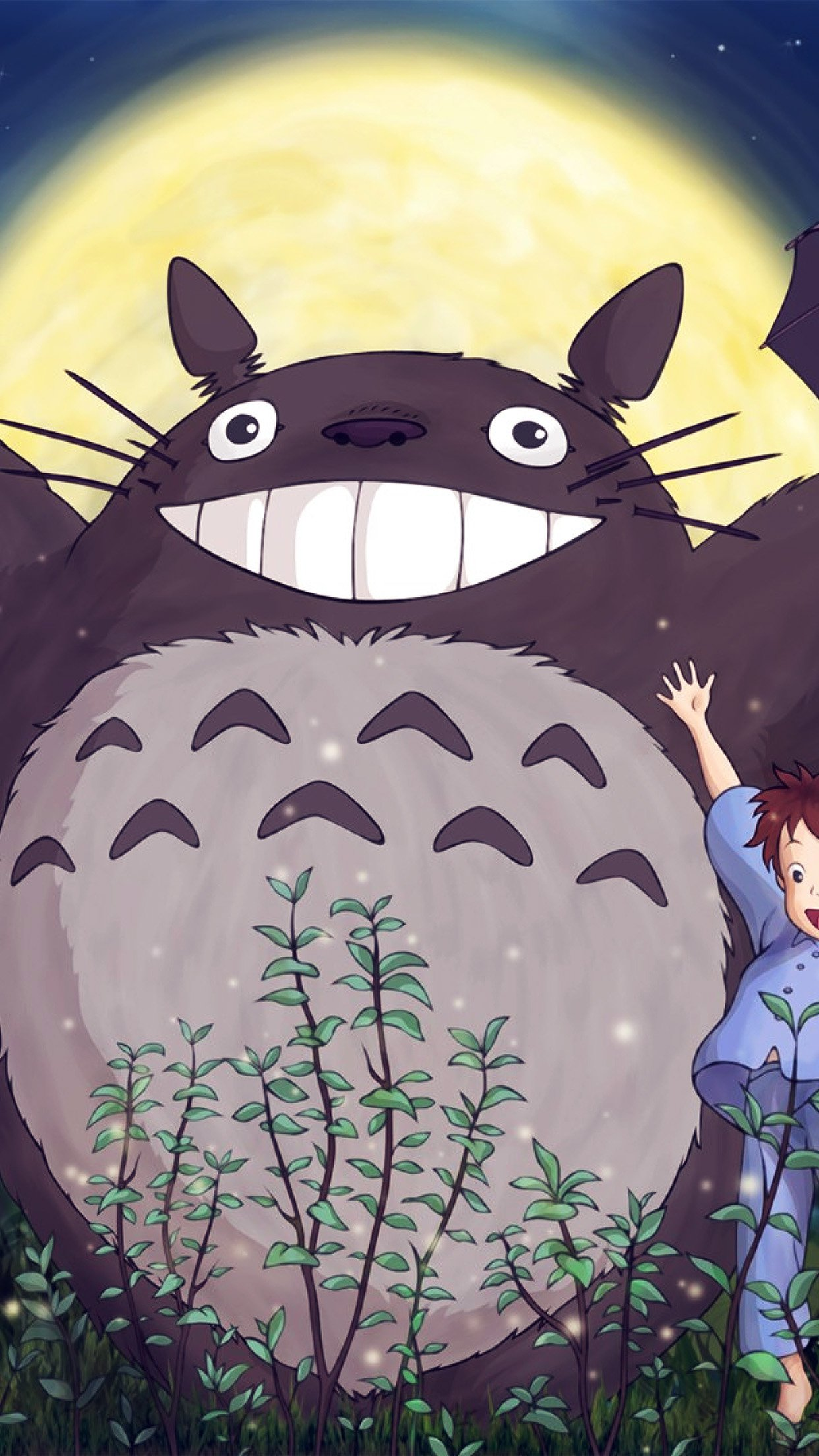 Amazing Wallpaper Forest Totoro - Totoro-Forest-Anime-Blue  Gallery_194999 .jpg