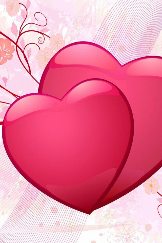 Valentine Day Hearts Android wallpaper