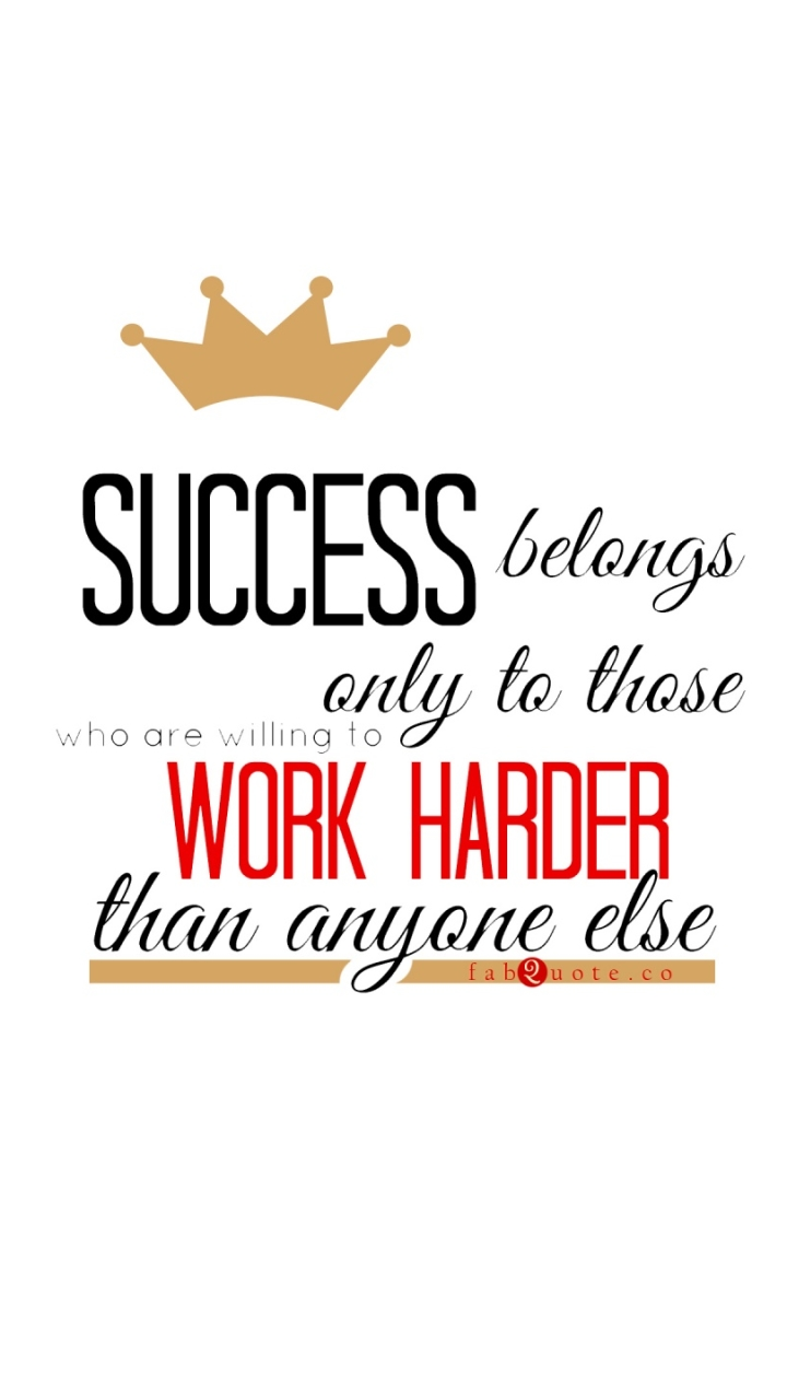 Work Harder Quote Android wallpaper