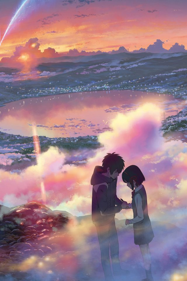 YourName Anime Art Night Cute Kimi no Na wa Android wallpaper