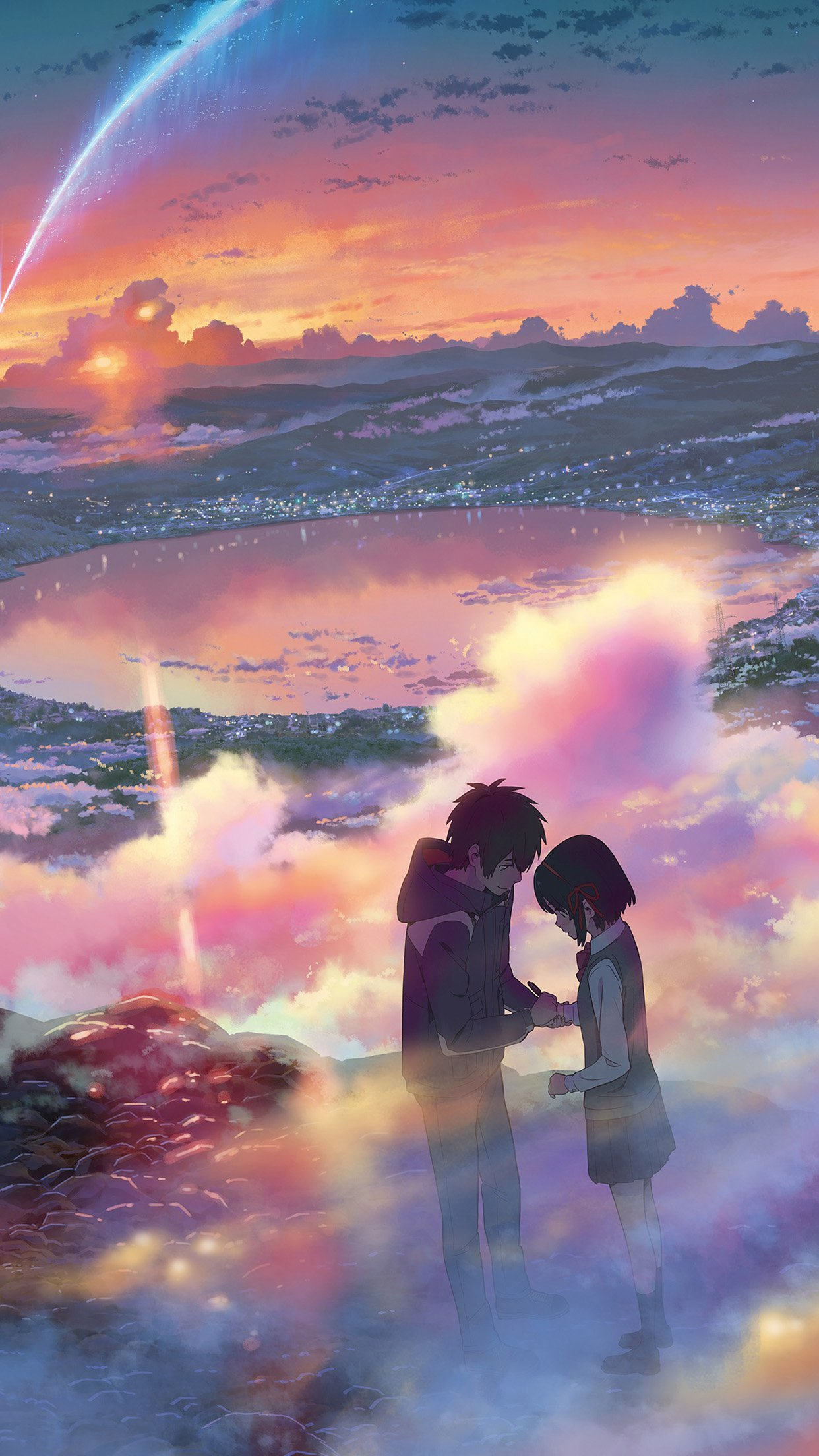 Yourname anime art night cute kimi no na wa android - Download anime wallpaper hd for android ...