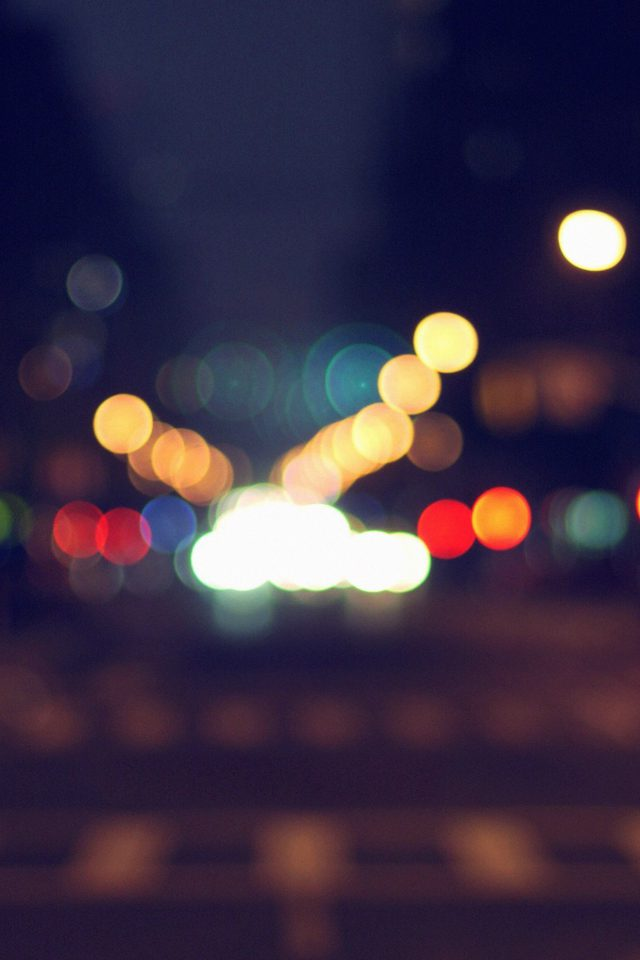 8th Avenue Chelsea Manhattan Blue Newyork Bokeh City Android wallpaper