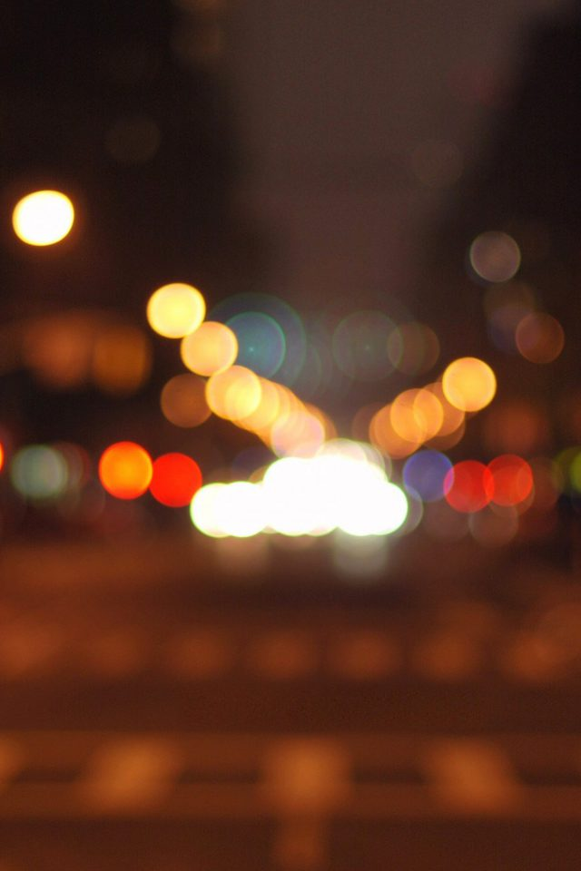 8th Avenue Chelsea Manhattan Newyork Bokeh City Android wallpaper