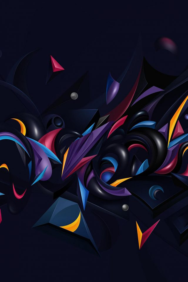 Abstract Art Pattern Rainbow Android wallpaper