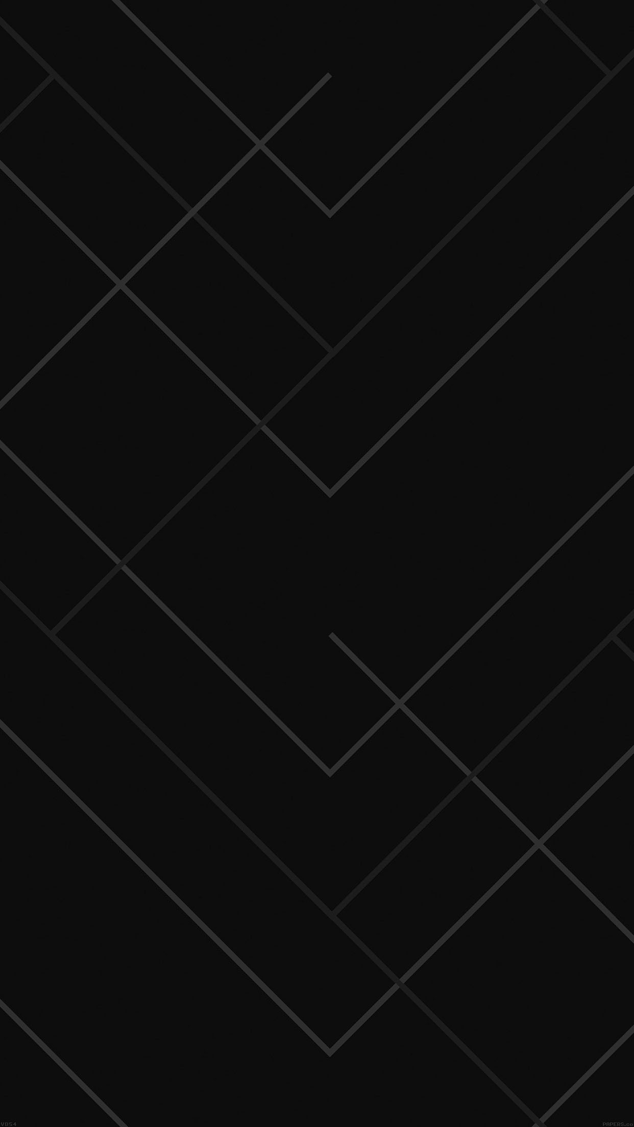 Abstract Black Geometric Line Pattern Android Wallpaper
