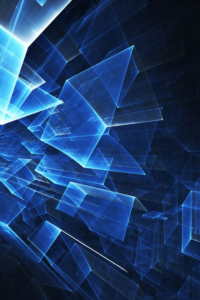 Abstract Blue Cube Pattern Android wallpaper