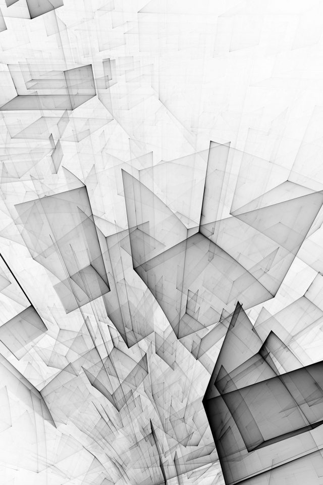Abstract Bw White Cube Pattern Android wallpaper