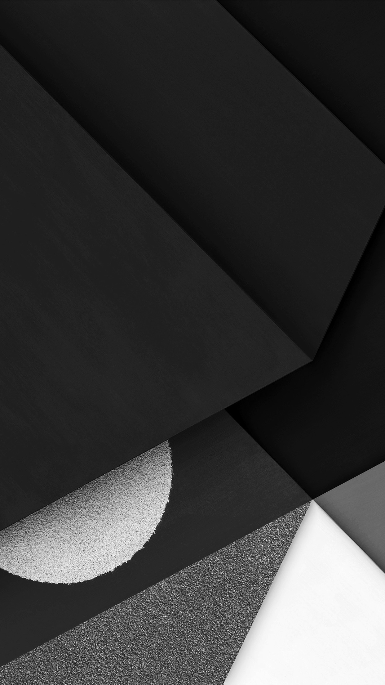 Abstract Earth Art Poly Dark Bw Galaxy Pattern Android