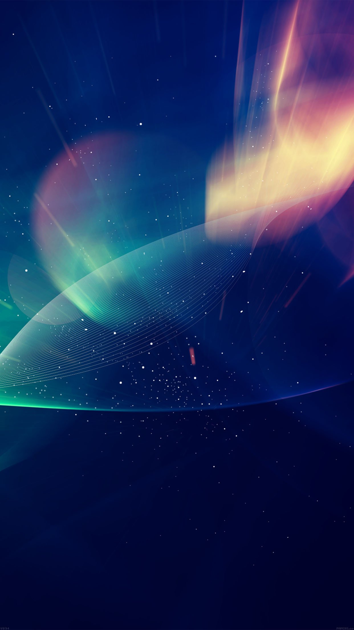 Abstract Lights Vector Illust Blue Android wallpaper
