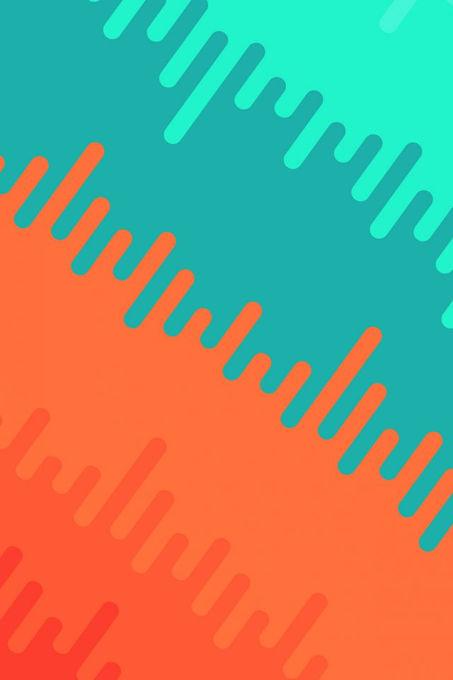 Abstract Orange Green Art Pattern Android wallpaper