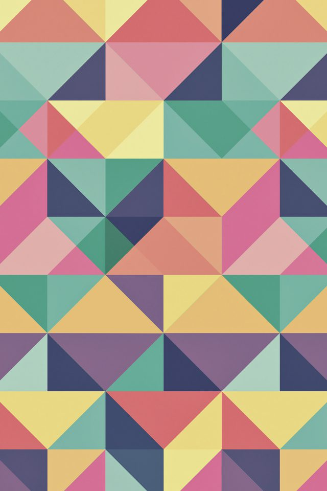 Abstract Polygon Art Pattern Rainbow Android wallpaper