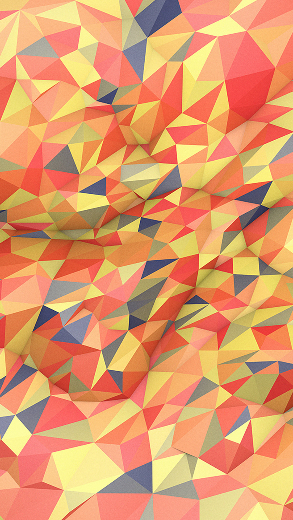 Abstract Red Yellow Polyart Pattern Android wallpaper