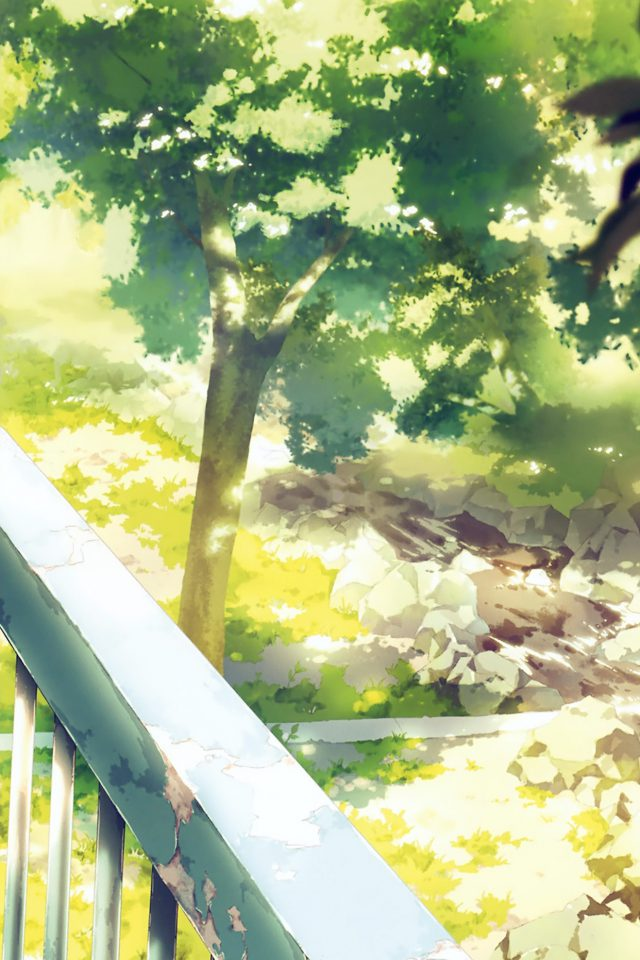 Anime Background Art Illust Forest Android wallpaper