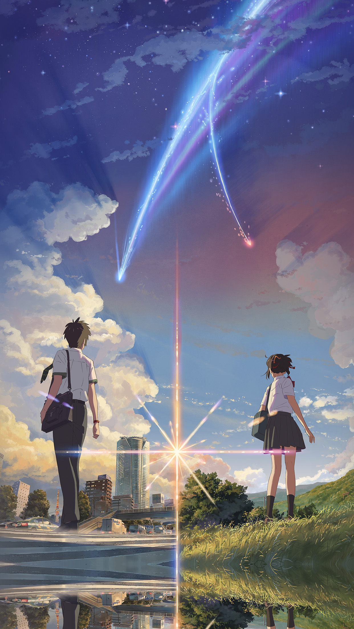 Anime Film Yourname Sky Illustration Art Android wallpaper