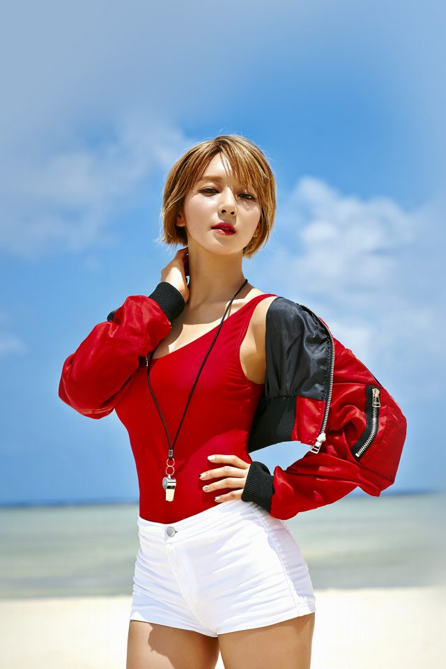 Aoa Choa Summer Ocean Vaction Girl Kpop Android wallpaper