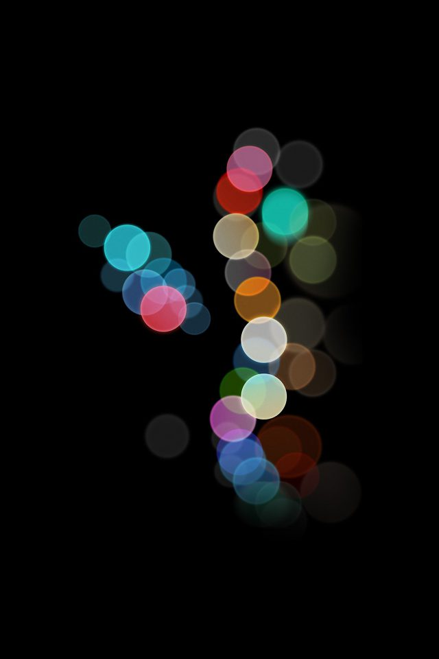 Apple Bokeh IPhone7 Dark Art Illustration Android wallpaper
