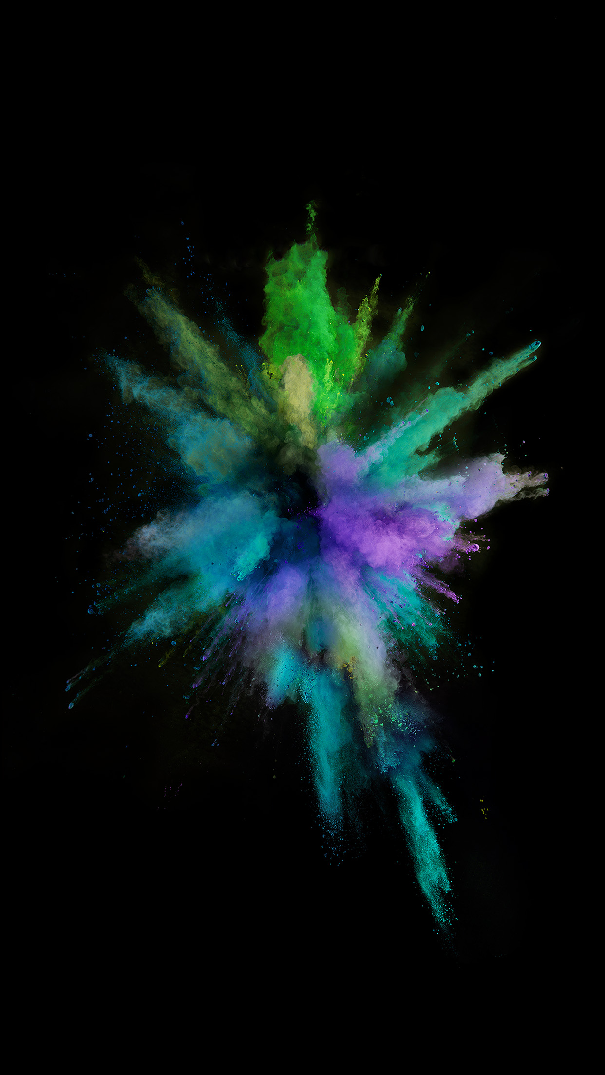 Apple Color Rainbow Dark Spark Ios9 Iphone6s Android wallpaper