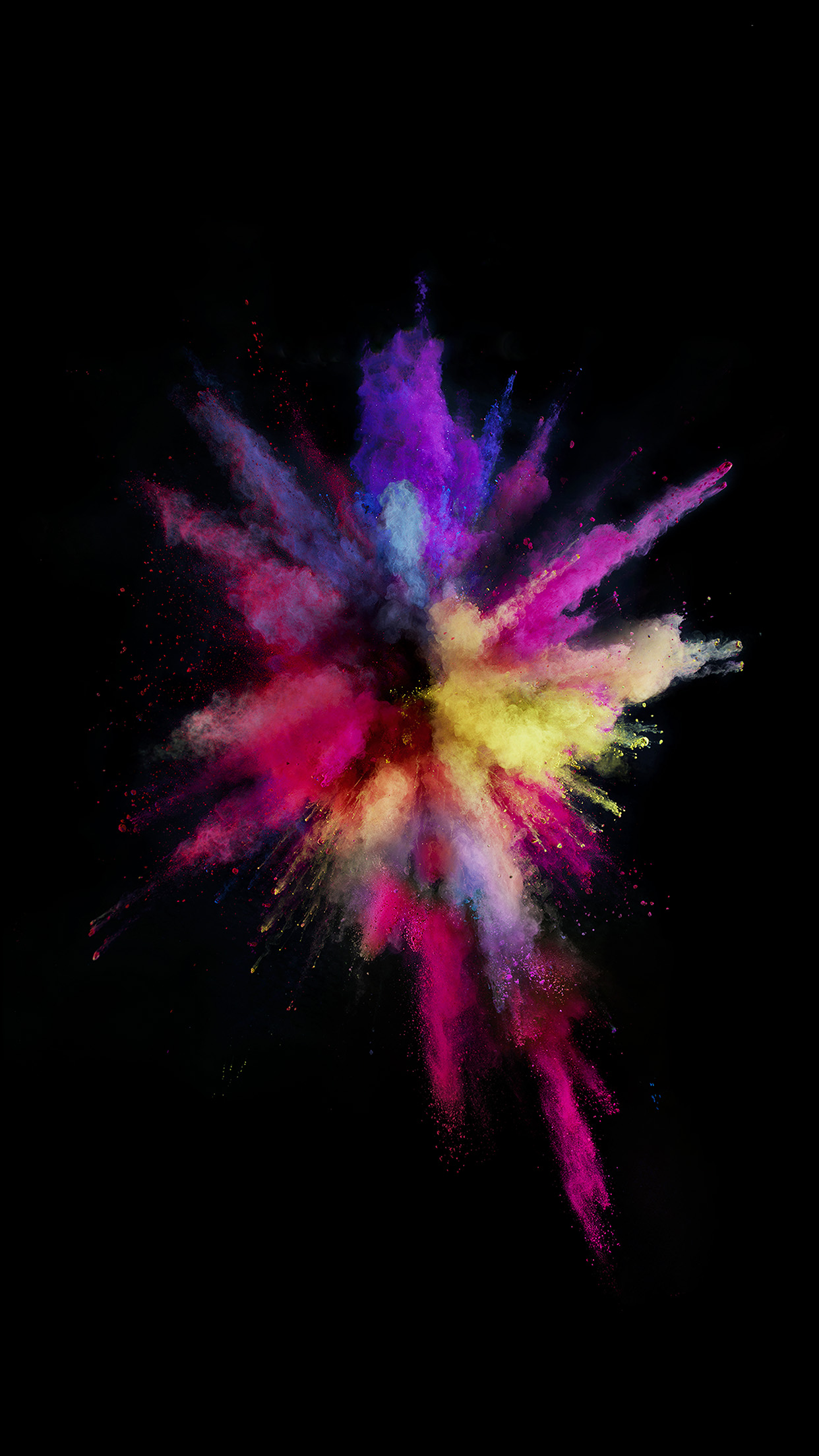 Apple Color Rainbow Red Dark Spark Ios9 Android Wallpaper