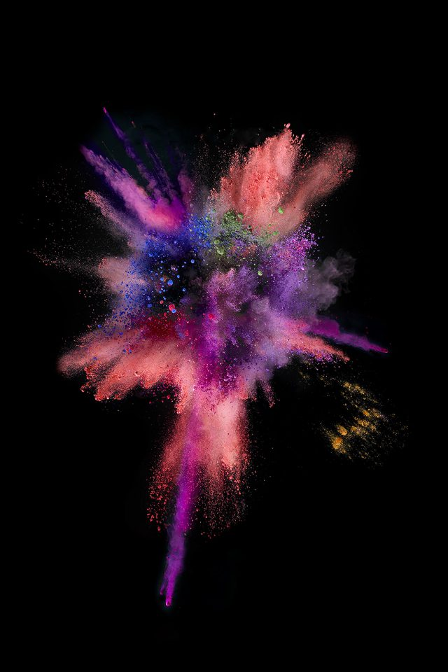 Apple Dark Spark IOS 9 Color Rainbow Android wallpaper