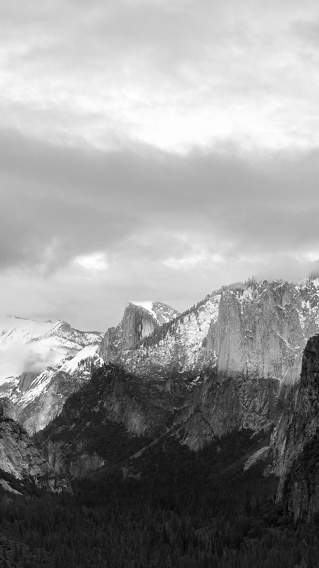 Apple El Capitan OSX Mac Mountain Wwdc Dark Bw Android wallpaper