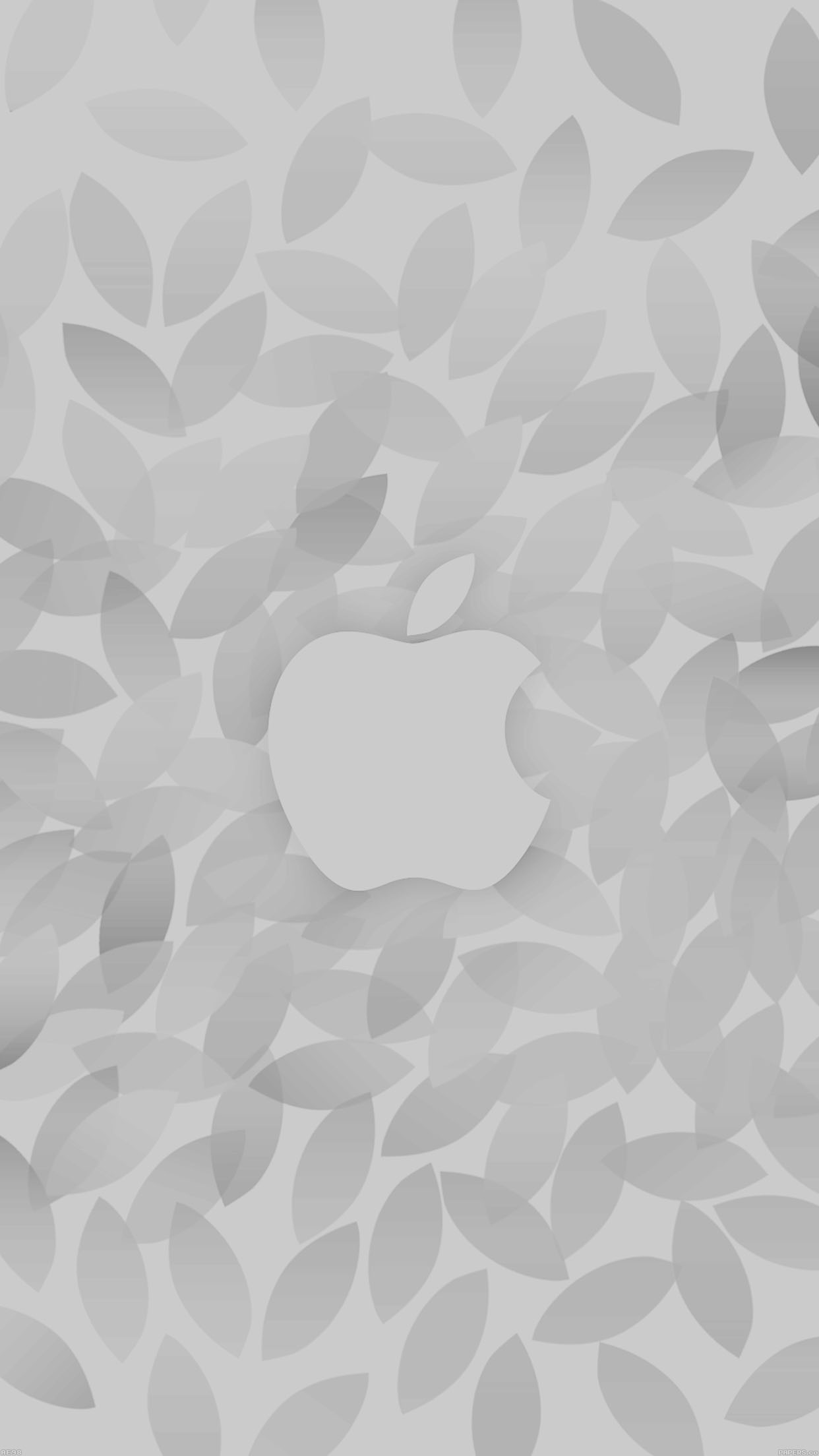 Apple In Fall White Pattern Android wallpaper