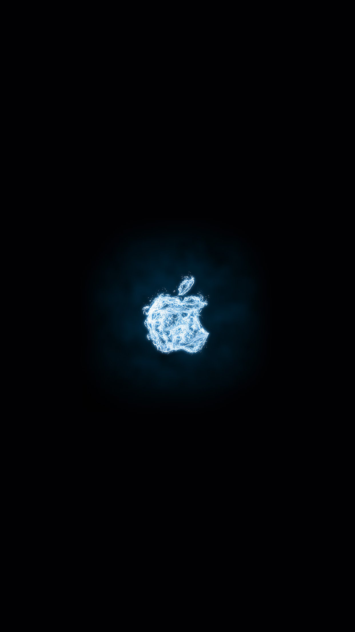 apple logo dark water blue art illustration android wallpaper android hd wallpapers