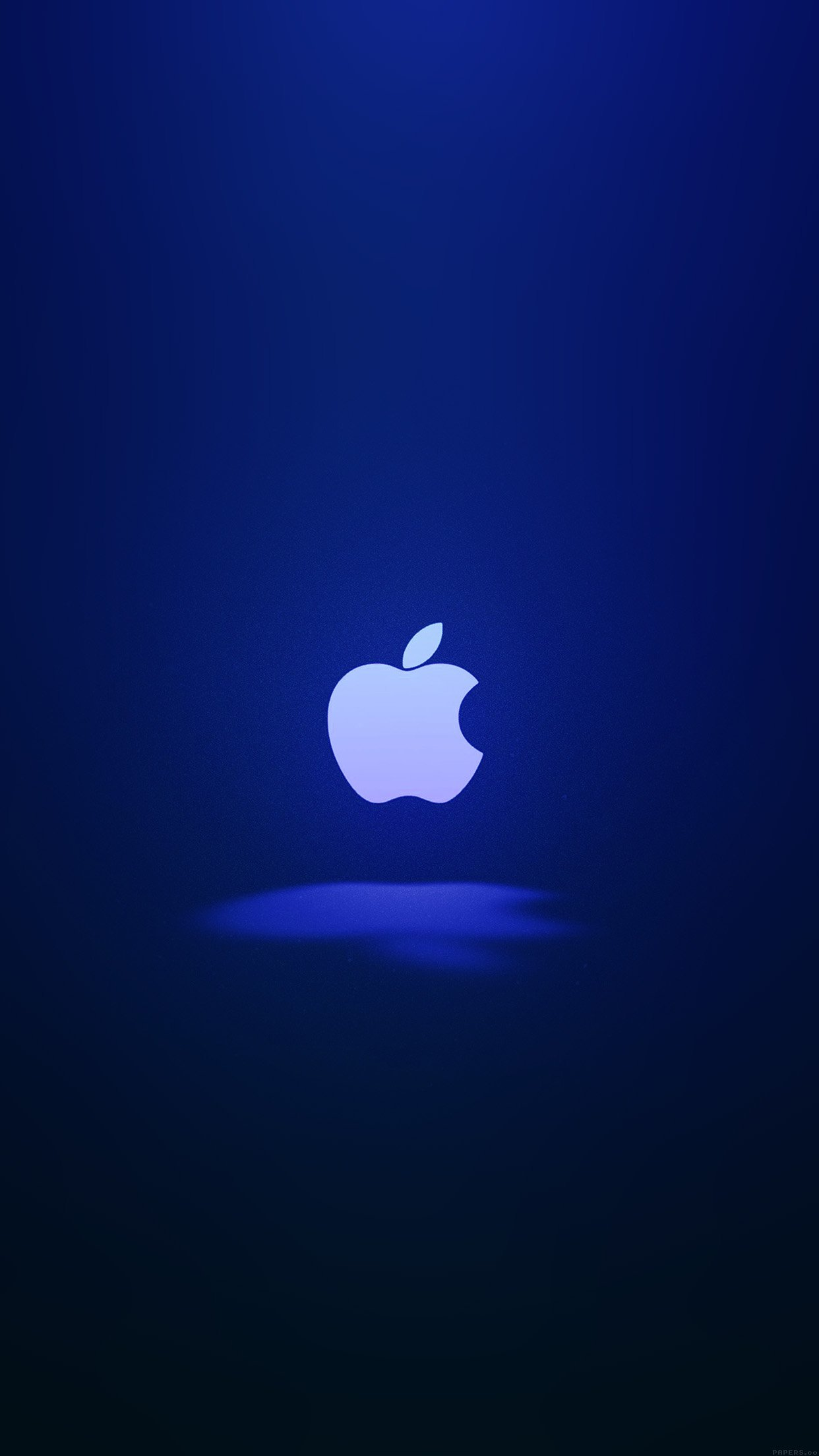 Apple Logo Love Mania Blue Android wallpaper