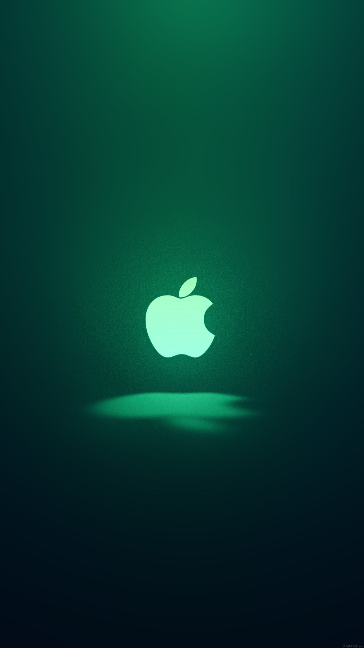 Apple Logo Love Mania Green Android wallpaper