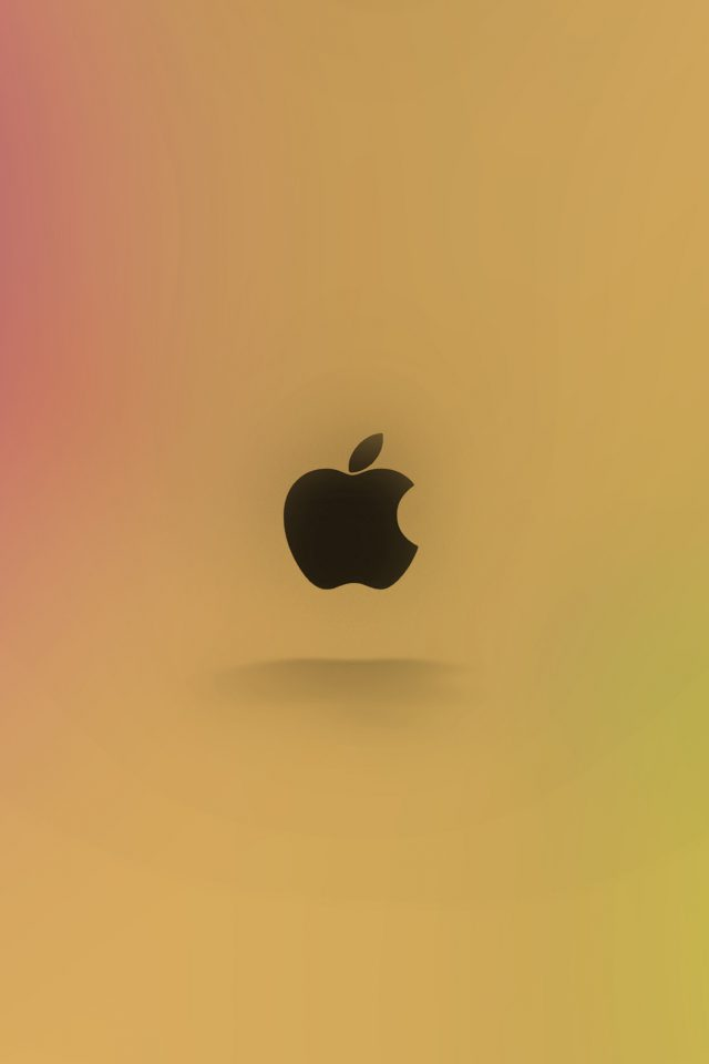 Apple Logo Love Mania Rainbow Android wallpaper