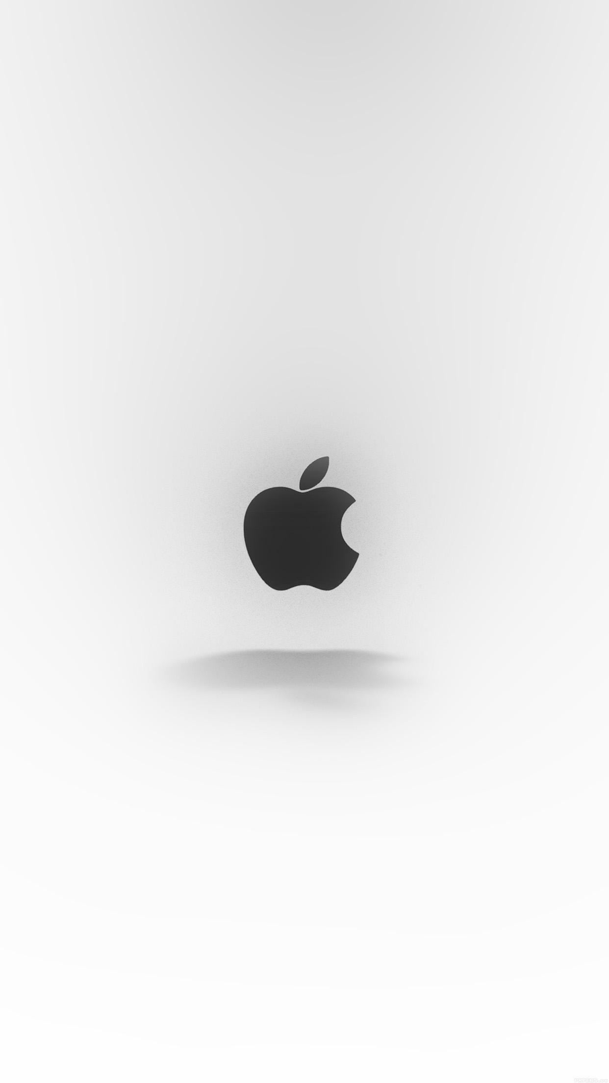 apple logo love mania white