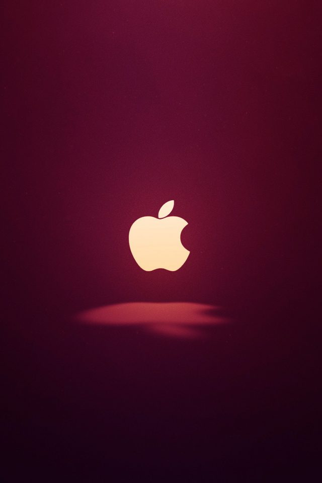 Apple Logo Love Mania Wine Red Android wallpaper
