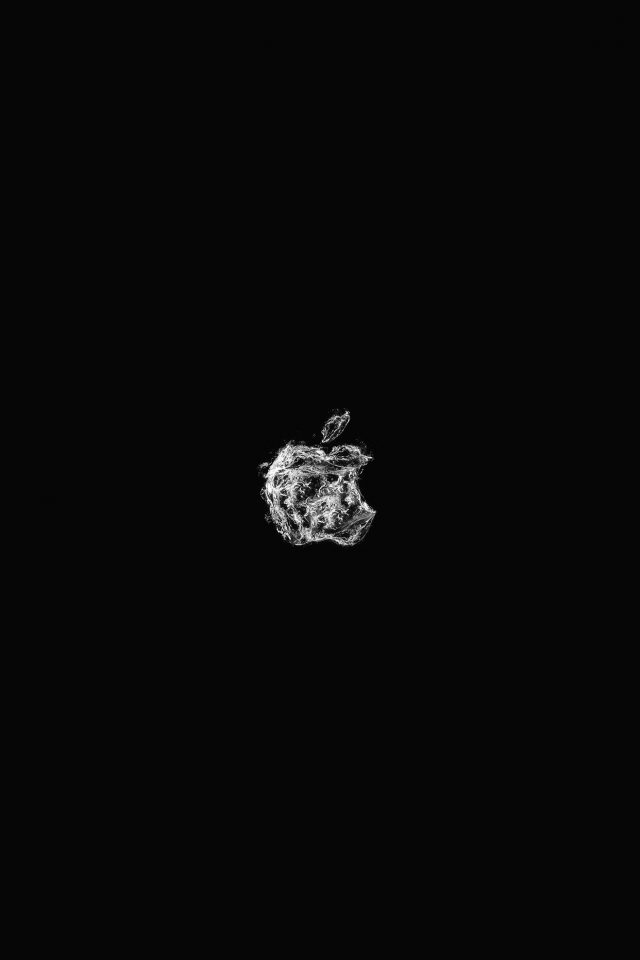 Apple Logo Water Dark Bw Art Illustration Android wallpaper
