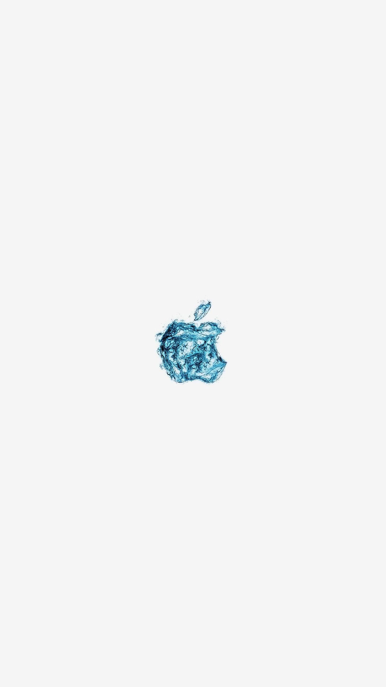 Apple Logo Water White Blue Art Illustration Android Wallpaper