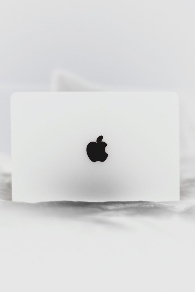 Apple Logo White Bw Life Night Android wallpaper