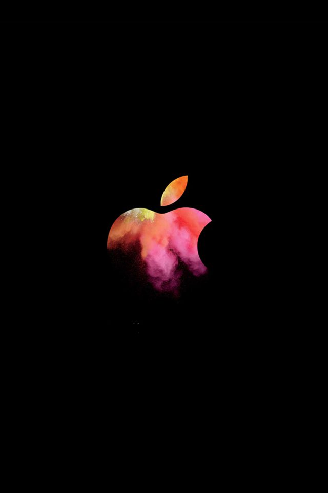 Apple Mac Event Logo Dark Illustration Art Android wallpaper