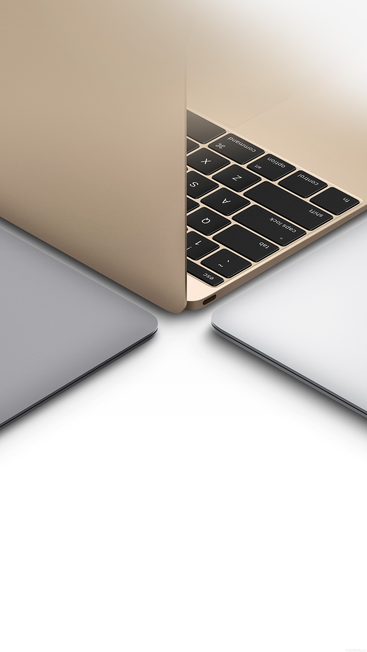 Apple Macbook Gold Silver Slate Gray Art Android Wallpaper Android