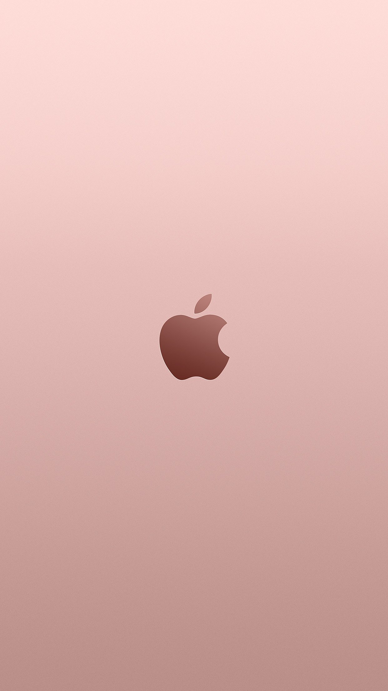 Apple Pink Rose Gold Minimal Illustration Art Android wallpaper