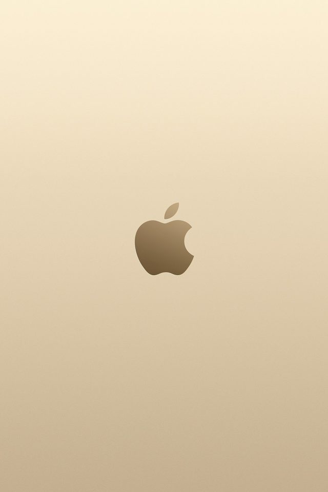 Apple Pink Yellow Gold Minimal Illustration Art Android wallpaper