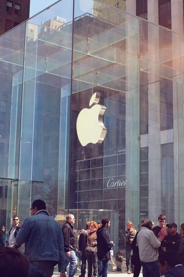 Apple Shop Newyork Cartier City Android wallpaper