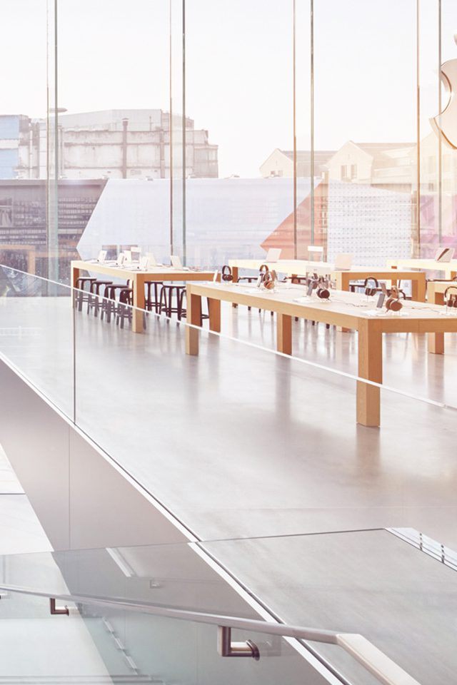 Apple Shop Store Interior City Android wallpaper