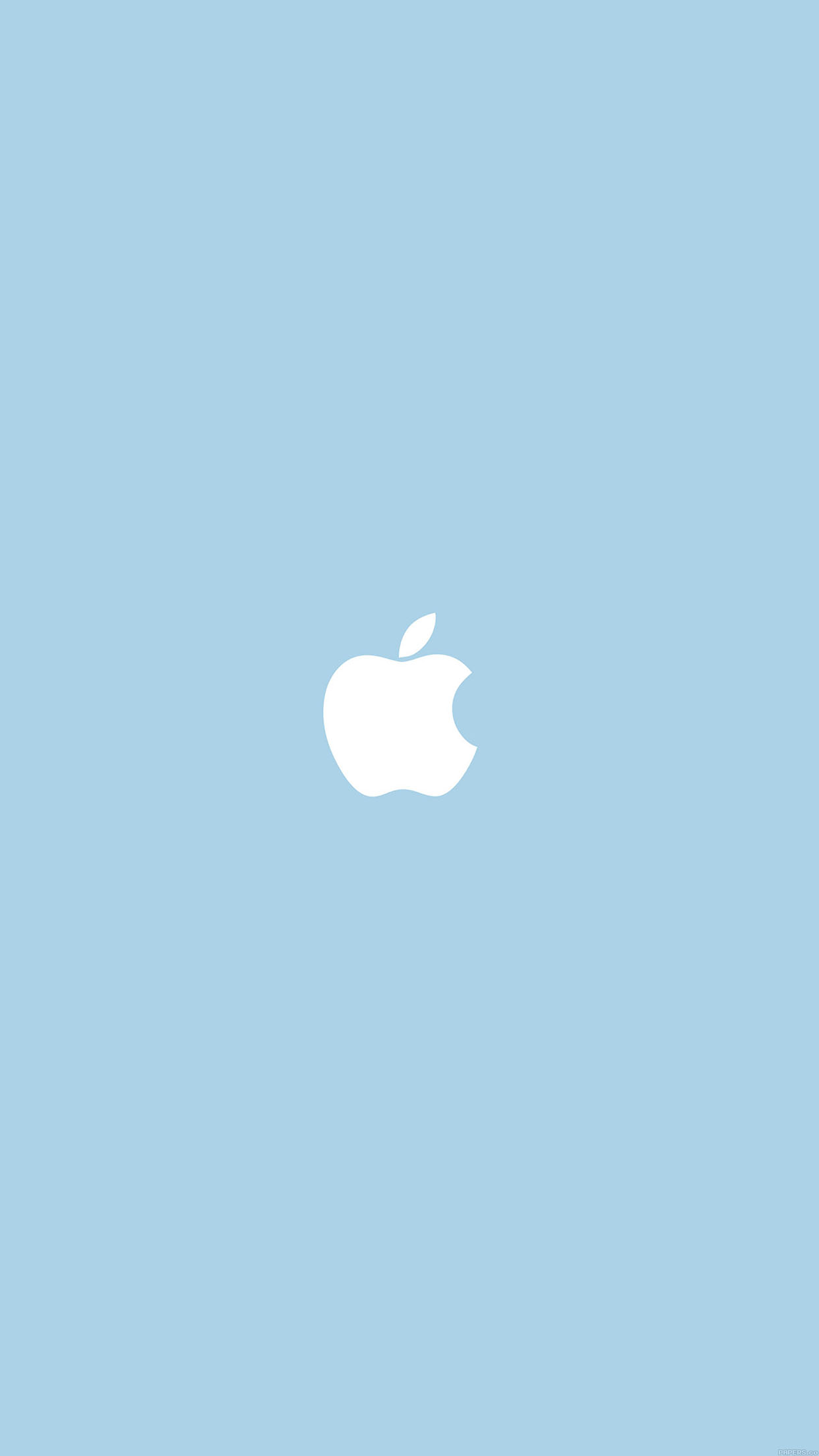 Apple Simple Logo Blue Minimal Android wallpaper