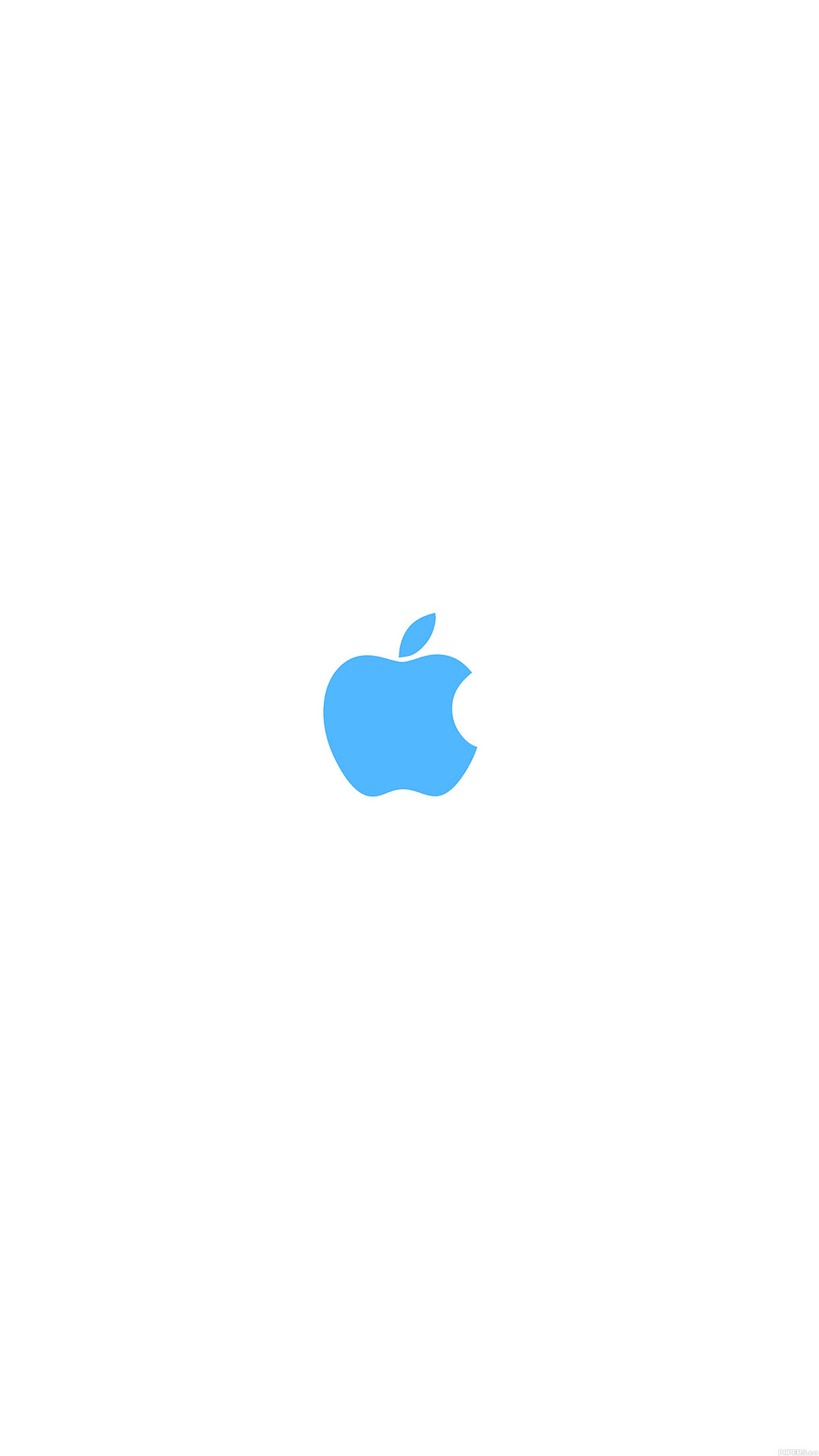 Apple Simple Logo Color Blue Minimal Android Wallpaper