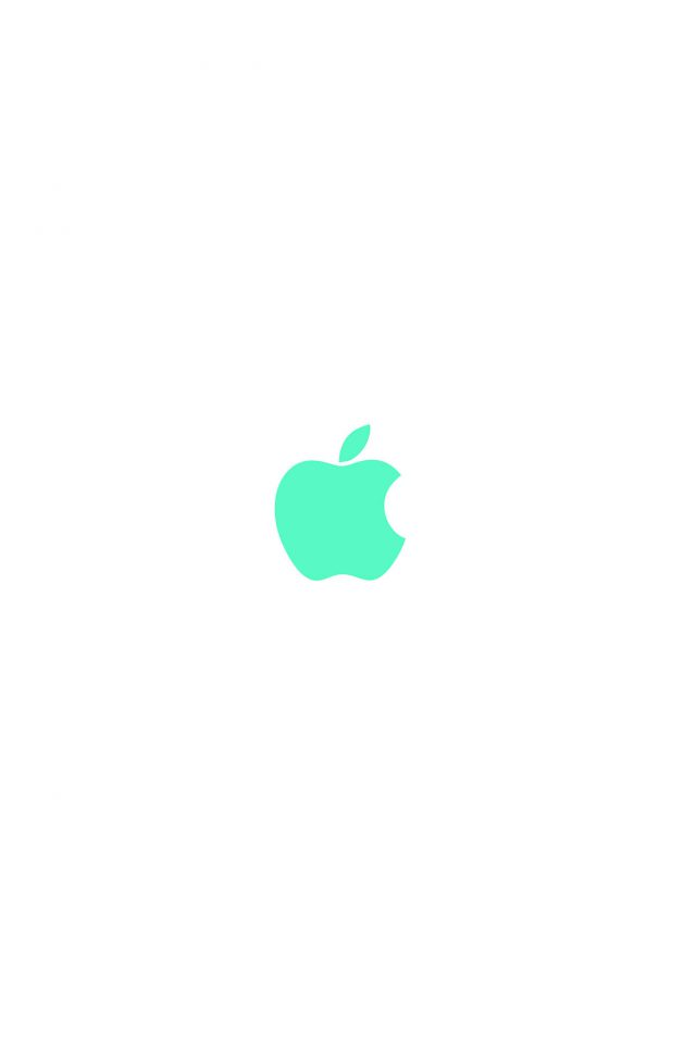 Apple Simple Logo Color Green Minimal Android wallpaper