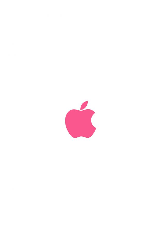 Apple Simple Logo Color Red Minimal Android wallpaper