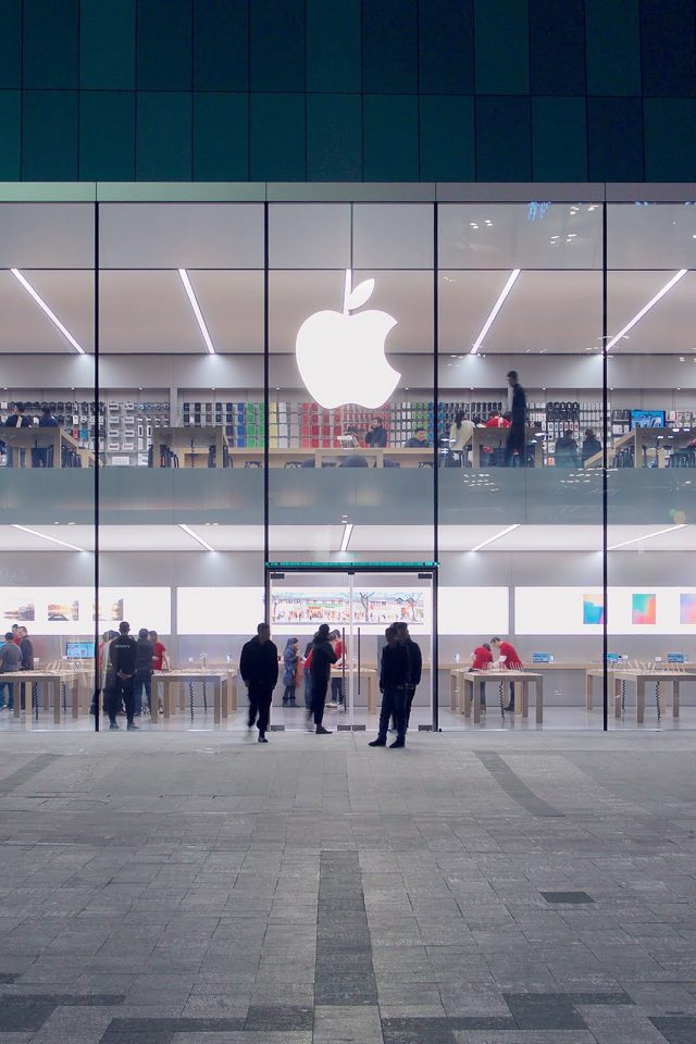 Apple Store Front Architecture City Android wallpaper