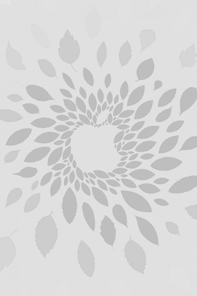 Apple Store Leafs Art Pattern Bw Android wallpaper