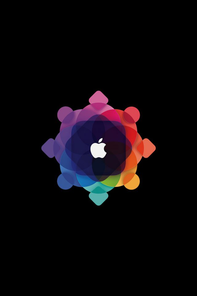 Apple Wwdc Art Logo Minimal Dark Android wallpaper