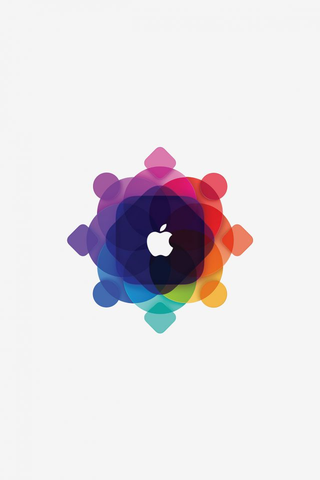 Apple Wwdc Art Logo Minimal White Android wallpaper